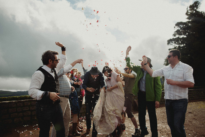 ceremony exit azores wedding