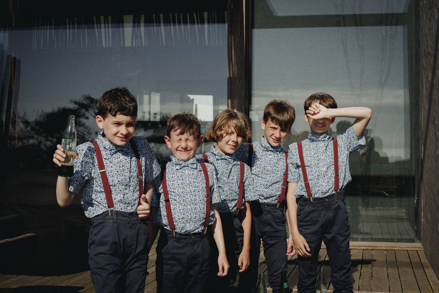 stylish page boys at areias do seixo
