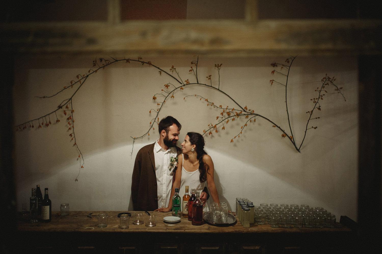 alternative couple portrait on a vegan wedding in portugal