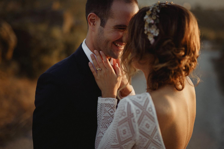 golder hour couple portrait at quinta do casal novo vestido pureza mello breyner