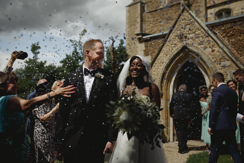 ceremony exit after alternative uk wedding