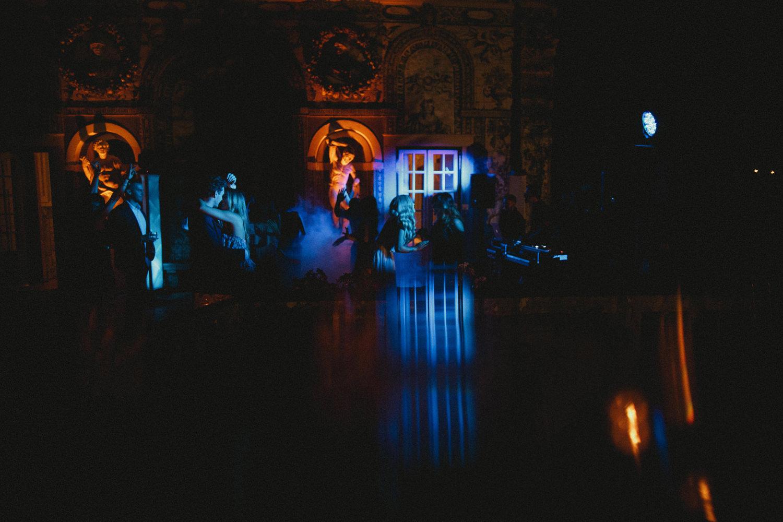 party at destination wedding in palacio marqueses fronteira lisbon portugal