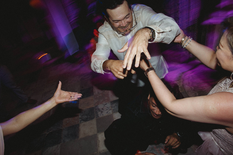 brides father dancing at palacio marques fronteira wedding in lisbon portugal