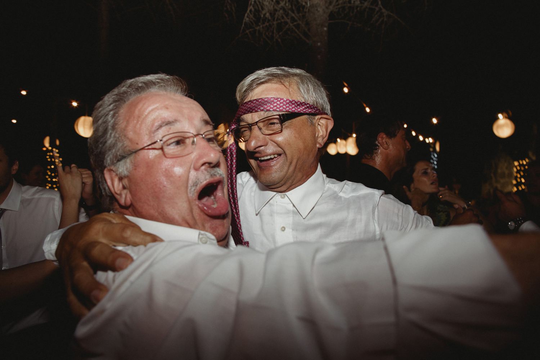 having fun at a portugal wedding