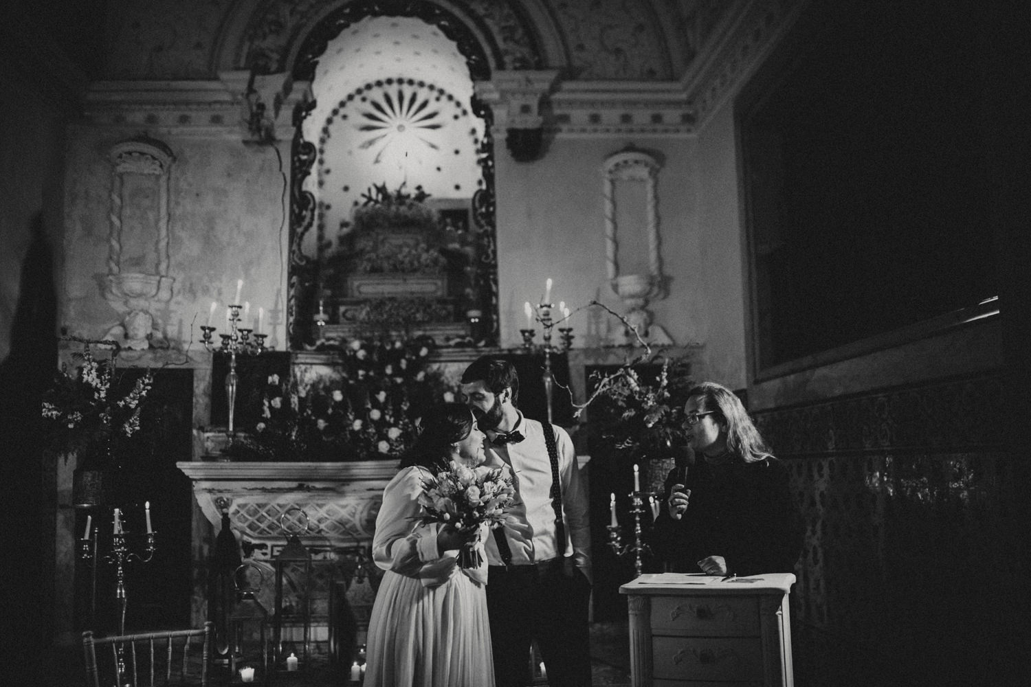 ceremony at the quinta my vintage wedding portugal