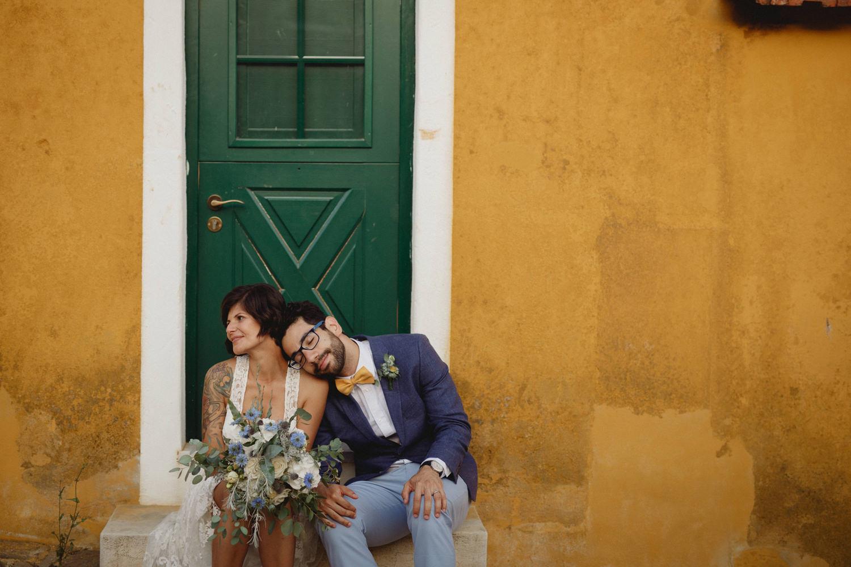 hipster couple at quinta de santana gradil portugal