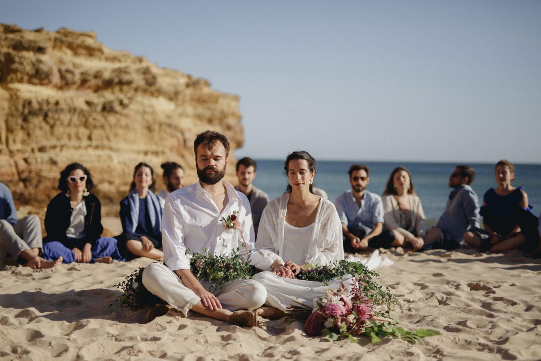 alternative yoga beach wedding in portugal