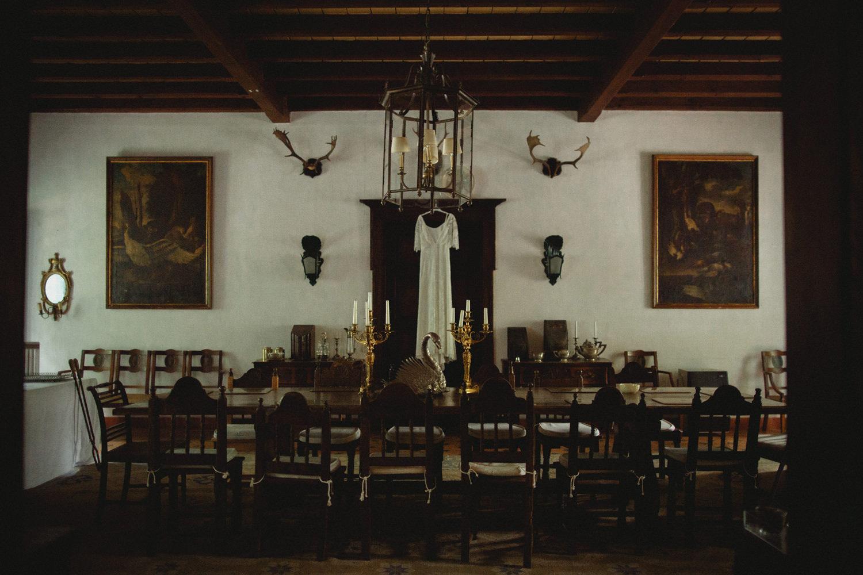 wedding dress hanging at herdade de agolada coruche portugal