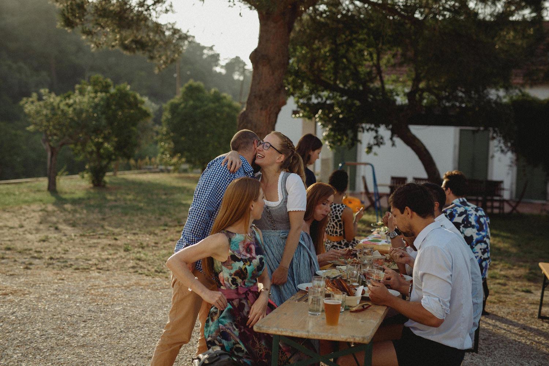 bohemian german wedding portugal