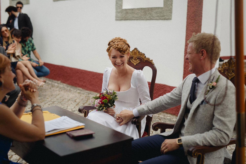 alternative portugal wedding in a private villa