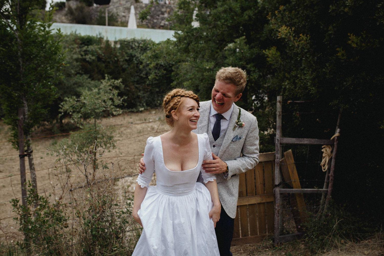 boho couple wedding portugal